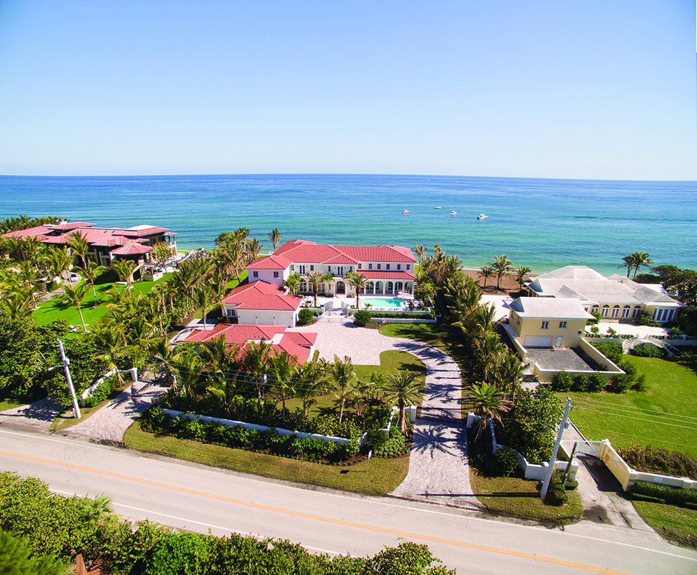 1400 South Ocean Boulevard Manalapan Florida Mansion Sold by Pascal Liguori & Son South Florida Luxury Real Estate Broker Associates Realty Oceanfront Luxury Home Intracoastal Dock Realtor European Villa